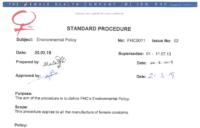 FHC Environmental Policy thumb