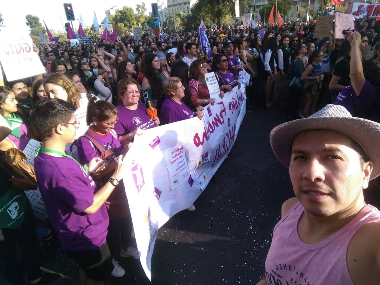 ICW march for reproductive rights in Chile